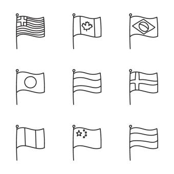 Free Stock Photo of Doodled Country Flags