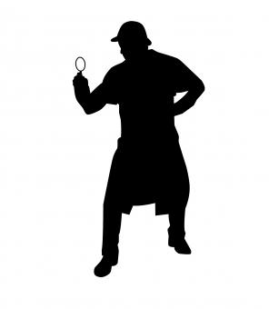 Free Stock Photo of Sherlock Holmes Silhouette