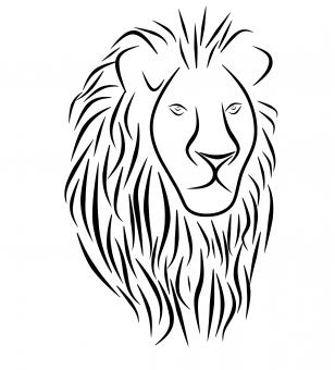 Free Stock Photo of Lion Tattoo Illustration