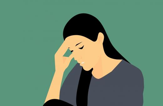 Free Stock Photo of Depressed Woman Illustration