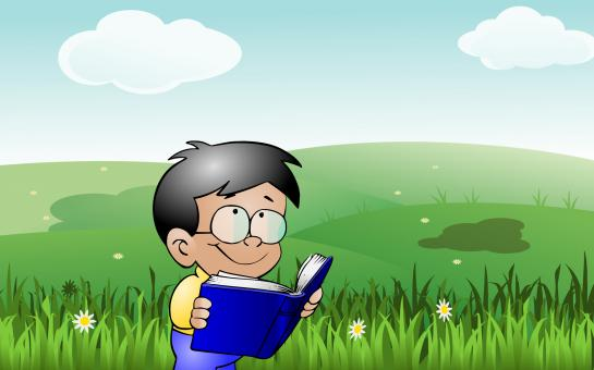Free Stock Photo of Kid reading outdoor