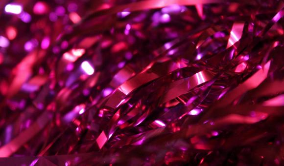 Free Stock Photo of Bright purple tinsel