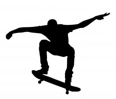 Free Stock Photo of Skateboard Silhouette