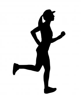 Free Stock Photo of Runner Silhouette