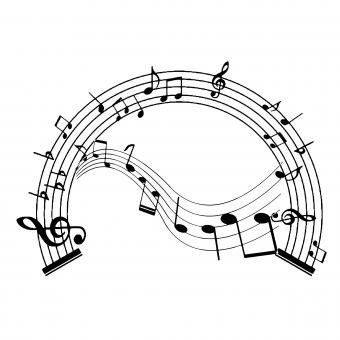 Free Stock Photo of Music Notes Design