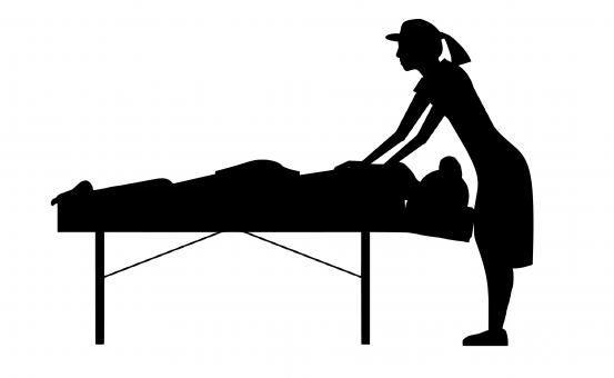 Free Stock Photo of Massage Therapist Silhouette
