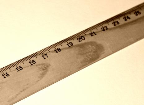 Free Stock Photo of A ruler (centimeter)