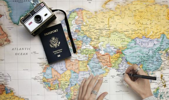 Free Stock Photo of Traveling Map