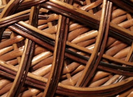Free Stock Photo of A part of a wooden basket