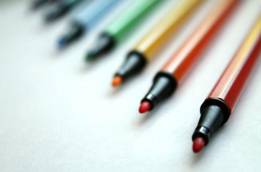Free Stock Photo of Bright multicoloured felt tip pens