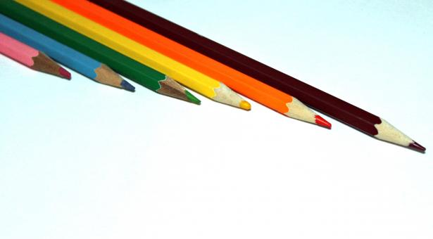 Free Stock Photo of Bright multi-coloured pencils