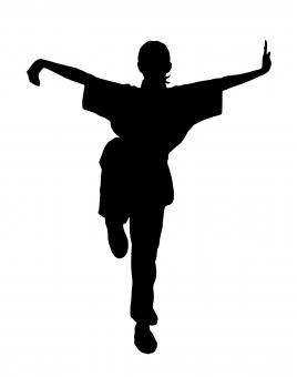Free Stock Photo of Kung-Fu Silhouette
