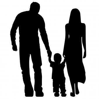 Free Stock Photo of Parents Silhouette