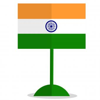 Free Stock Photo of Indian Flag Illustration