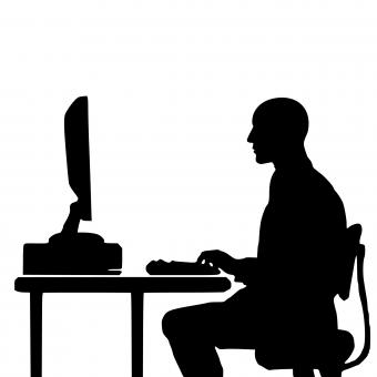 Free Stock Photo of Programmer Silhouette