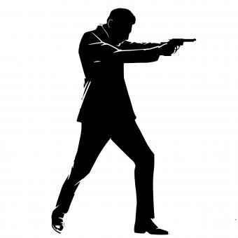 Free Stock Photo of Secret Agent Silhouette