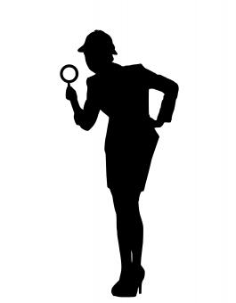 Free Stock Photo of Investigation Silhouette