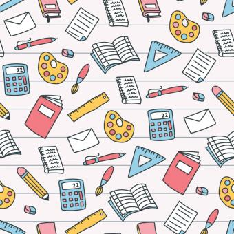 Free Stock Photo of Colorful School Pattern