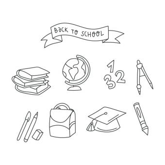 Free Stock Photo of Back To School Vector Doodles