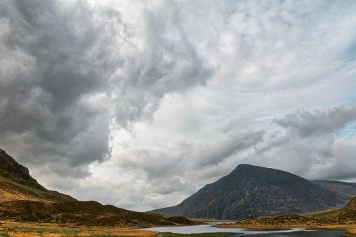 Free Stock Photo of Idwal Mountain Clouds