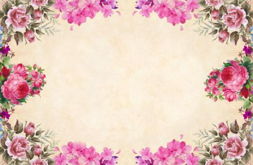 Free Stock Photo of Pink Floral Vintage Paper Background