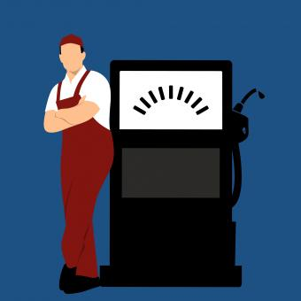 Free Stock Photo of Fuel Station Illustration