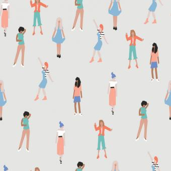 Free Stock Photo of Girl Vector Pattern