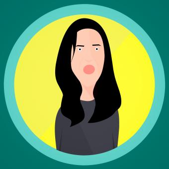 Free Stock Photo of Angry Woman Illustration
