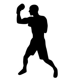 Free Stock Photo of Boxing Silhouette