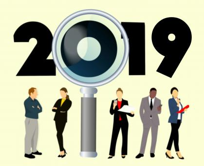 Free Stock Photo of Search for 2019 Jobs Illustration