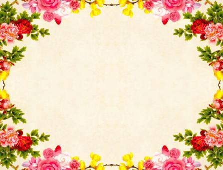 Free Stock Photo of Colorful Floral Frame Background