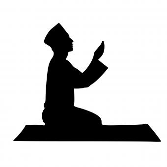 Free Stock Photo of Islamic Pray Silhouette
