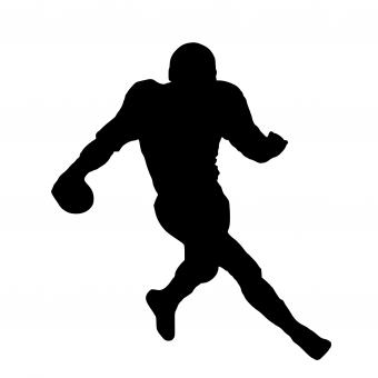 Free Stock Photo of NFL Player Silhouette