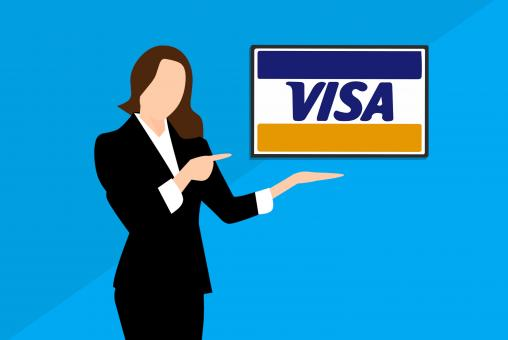 Free Stock Photo of Visa Payment Method Illustration