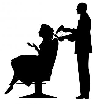 Free Stock Photo of Hairdresser Silhouette