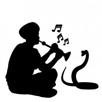 Free Stock Photo of Snake Charmer Silhouette