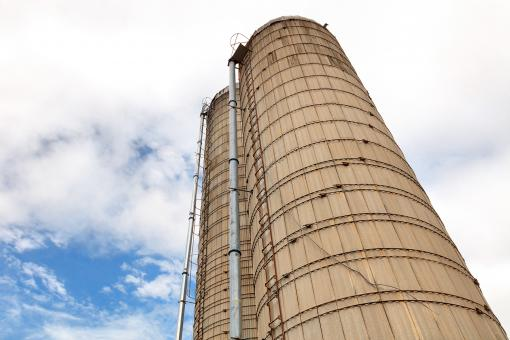 Free Stock Photo of Steepside Silos
