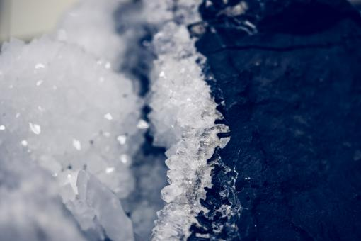 Free Stock Photo of Icy Rock Surface