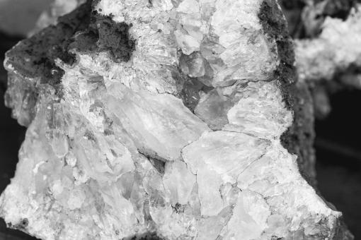 Free Stock Photo of Monochrome Crystal Texture