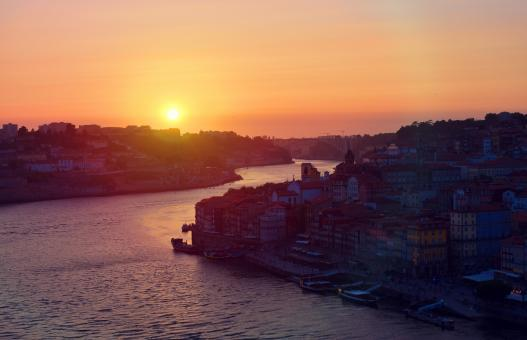 Free Stock Photo of Sunset - Porto - Old Town - Northern Portugal