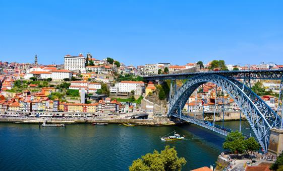 Free Stock Photo of Luis I Bridge - Porto - Portugal