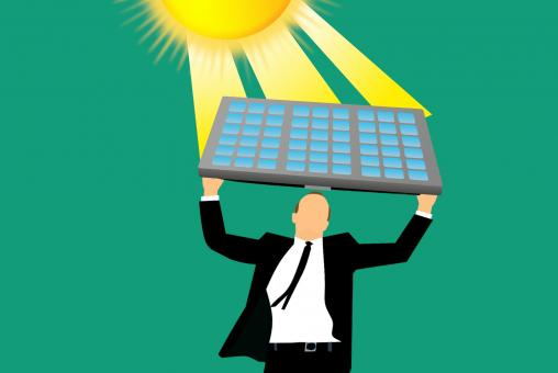 Free Stock Photo of Solar Energy Illustration