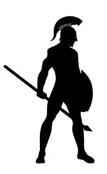 Free Stock Photo of Spartan Warrior Silhouette