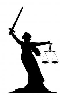 Free Stock Photo of Lady Justice Silhouette