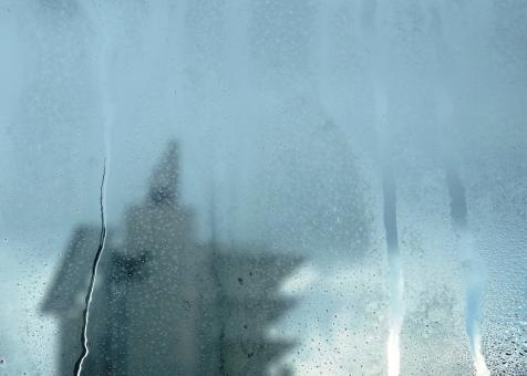 Free Stock Photo of Urban abstract background seen through a misted window