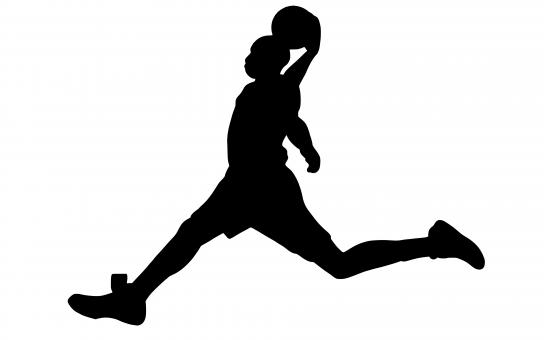 Free Stock Photo of Basketball Dunk Silhouette