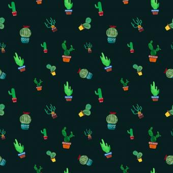 Free Stock Photo of Seamless cactus pattern