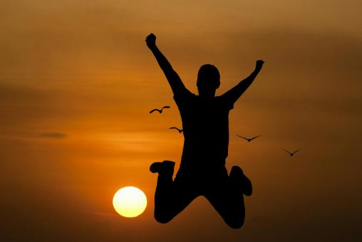 Free Stock Photo of Young Man Jumping