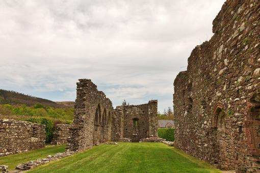 Free Stock Photo of Cymer Abbey Ruins