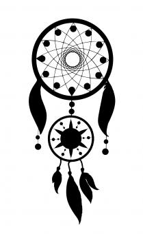 Free Stock Photo of Dream Catcher Silhouette